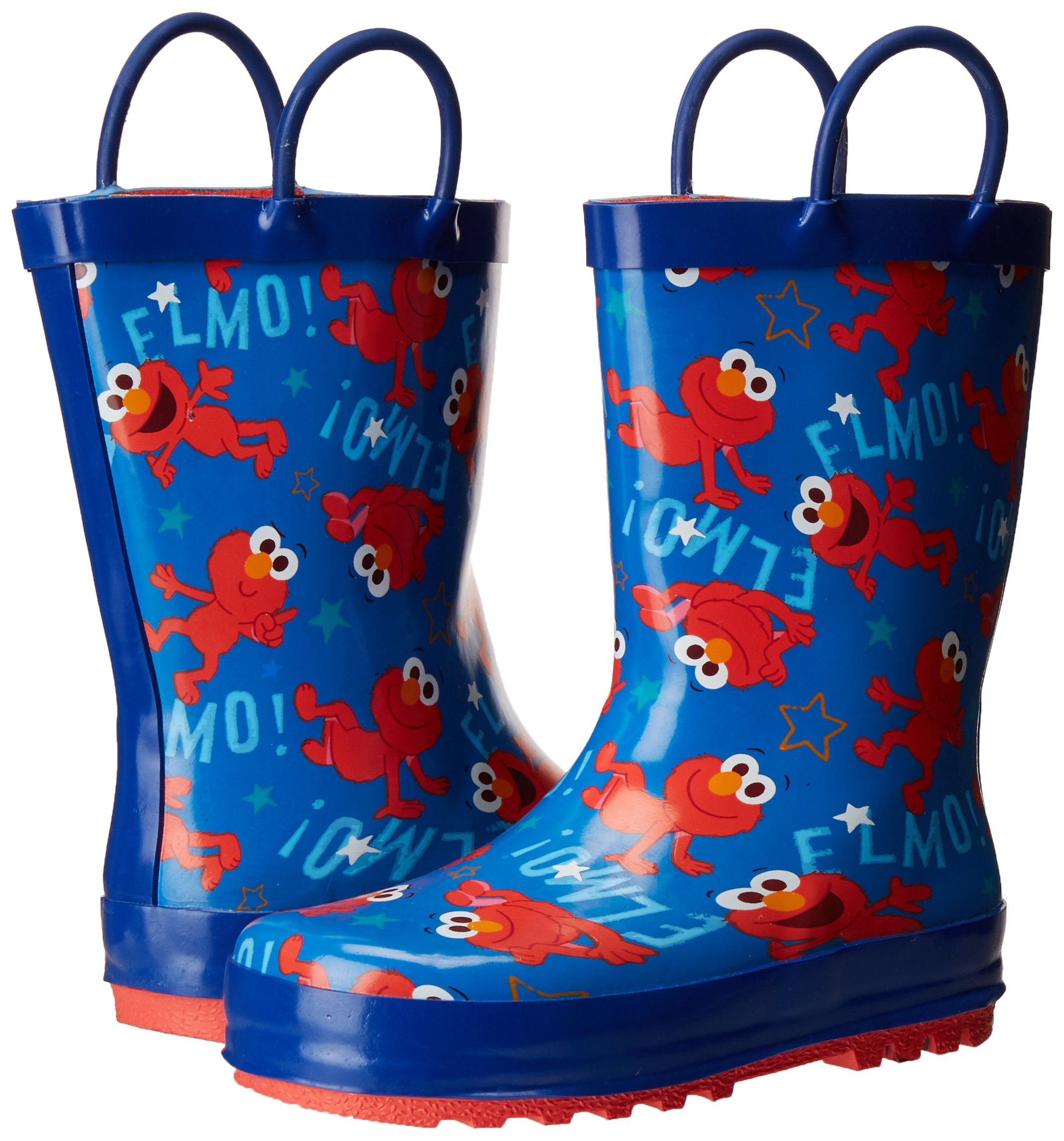 Sesame Street Boys' Kid's Character Licensed Rain Boot, Blue, Dual Shoe Size 7/8 Child US Toddler by Sesame Street (Image #6)