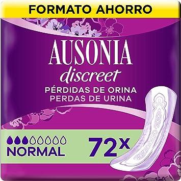 Comprar Ausonia Discreet Compresas Para Pérdidas De Orina Normal Para Vejigas Hiperactivas x 72