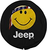 Genuine Jeep Accessories 82208686AD Cloth Spare Tire Cover with Smiley Face Logo