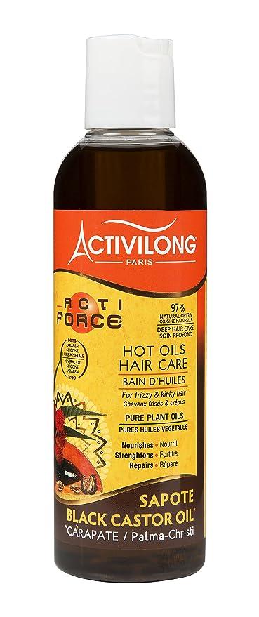 Activilong Actiforce baño de aceites, ricino, aceite de ricino negro, 200 ml