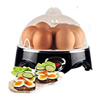 Compact Electric Egg Cooker Boiler Steamer Maker Up To 7 Eggs + FREE Poacher