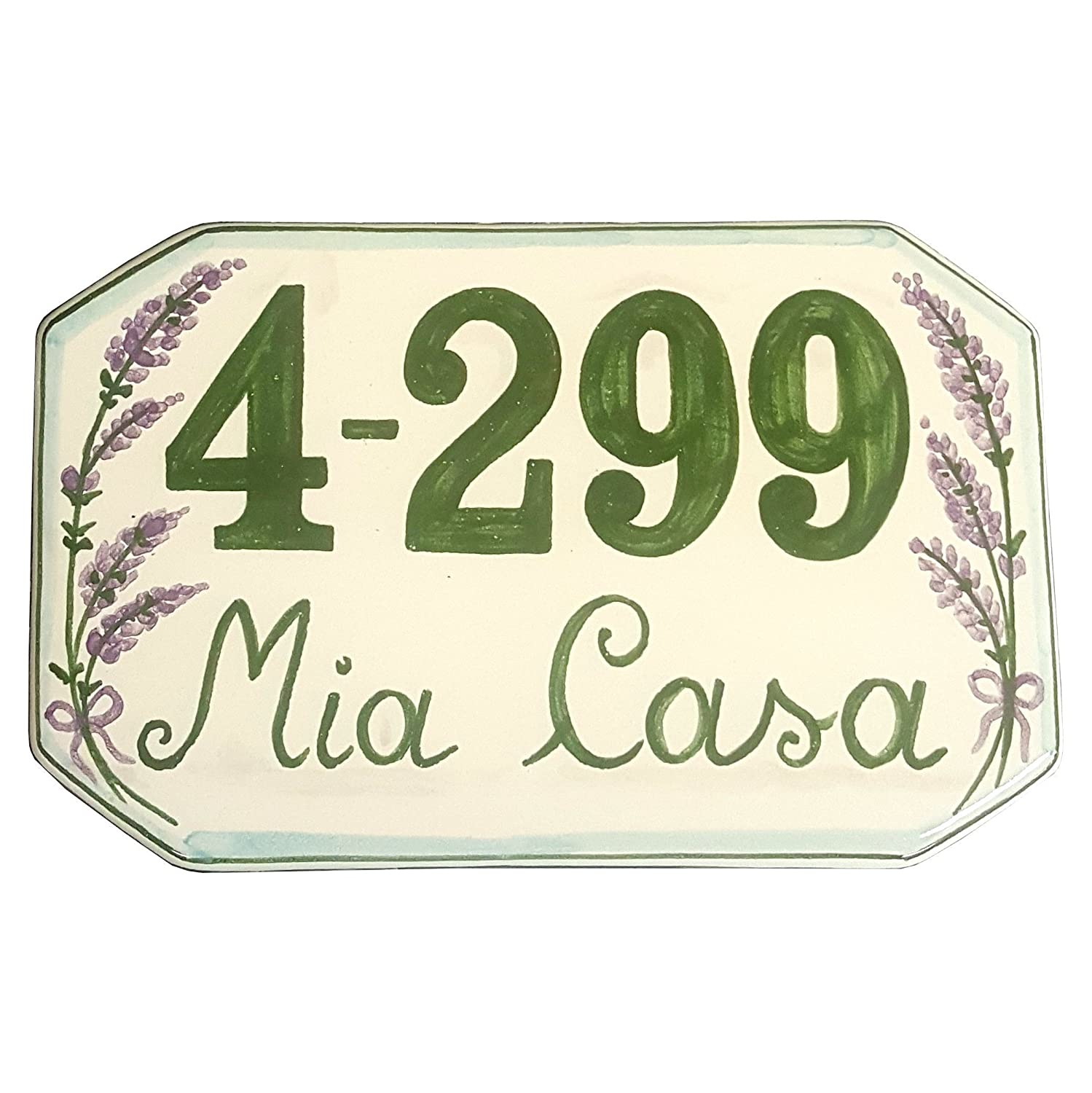 Amazon ceramiche darte parrini italian ceramic art pottery amazon ceramiche darte parrini italian ceramic art pottery tile custom house number civic address plaques decorated lavender hand painted made in dailygadgetfo Choice Image