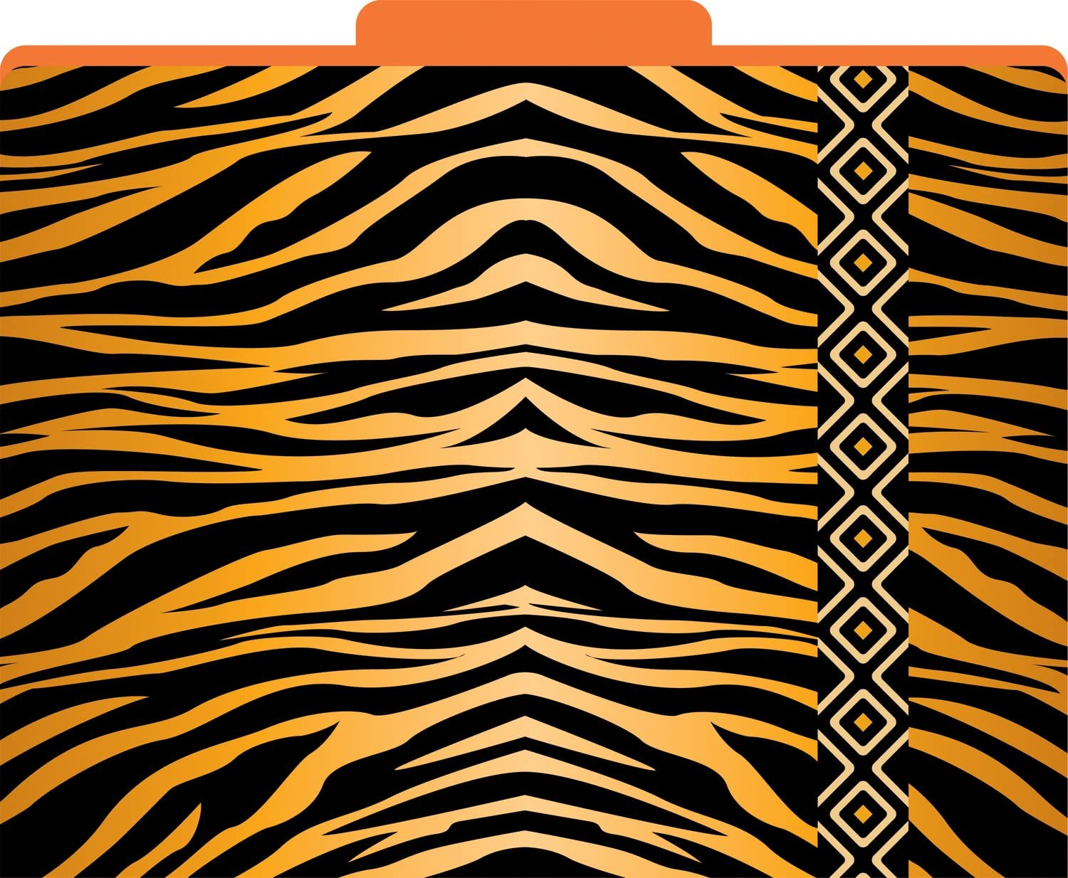 Barker Creek Office Products Tiger Decorative File Folders LL-1321 1//3 Tabbed Letter