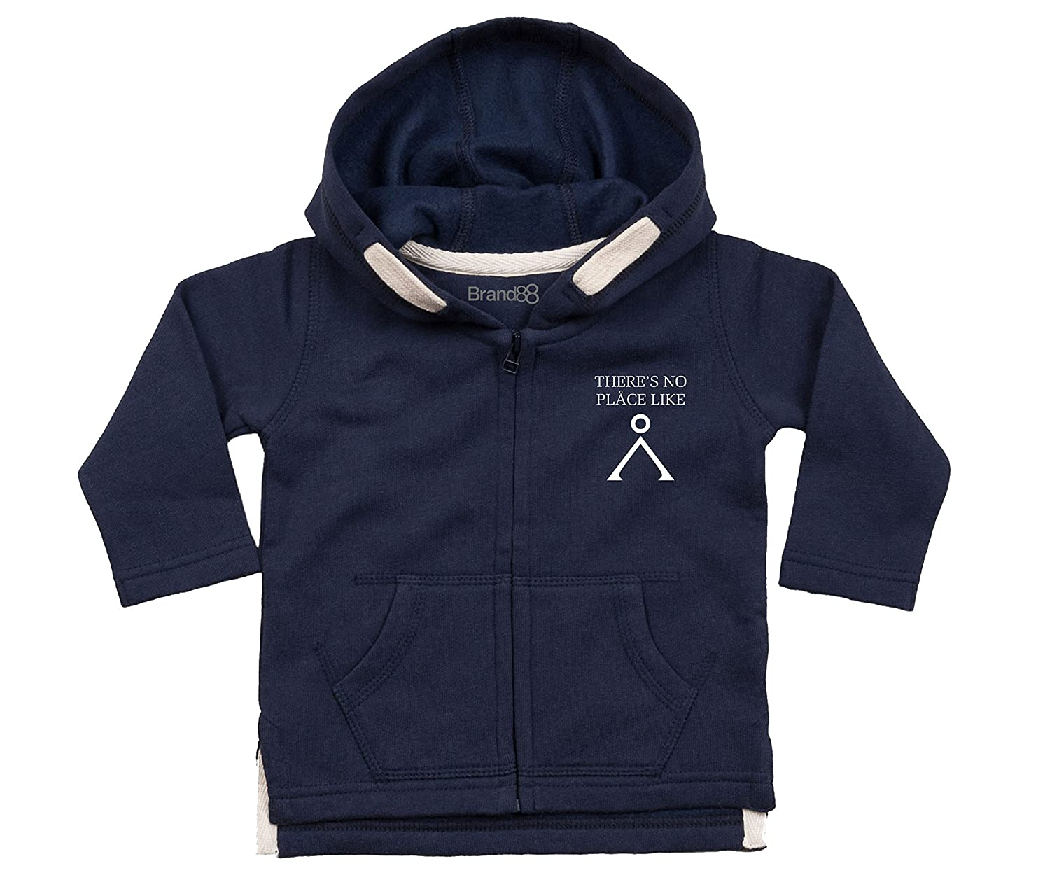Brand88 Theres No Place Like Baby Hoodie
