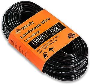 Wirefy 12/2 Low Voltage Landscape Lighting Wire - 12-Gauge 2-Conductor 100 Feet