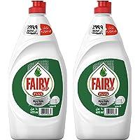 Fairy Plus Original Dishwashing Liquid Soap With Alternative Power To Bleach, 2 x 600 ml '