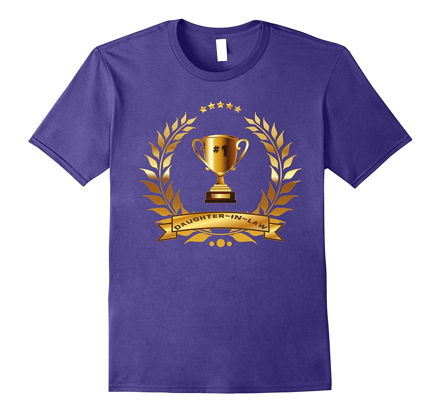 #1 Daughter-In-Law T-Shirt With Trophy-Gift For Women, Girls