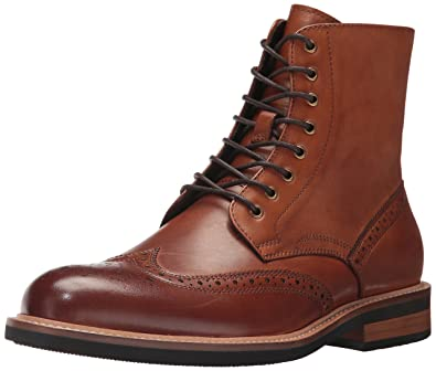 Kenneth Cole REACTION Mens Design 20635 Combat Boot Cognac 7 ...