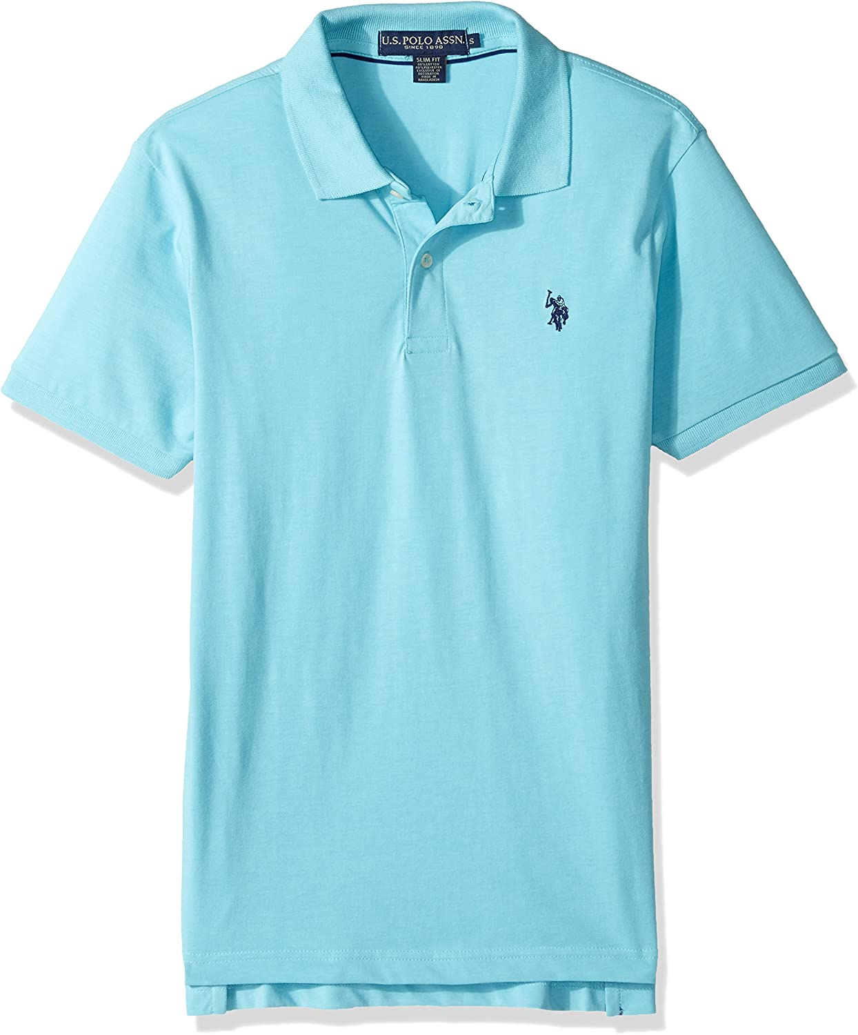 U.S. Polo Assn. Hombres Slim Fit Solid Short Sleeve Jersey Polo ...