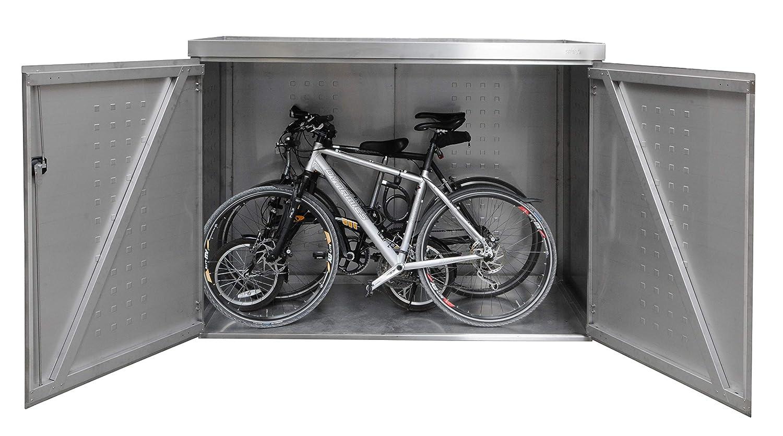 Reinkedesign - Garaje para Bicicleta con Maceta de Acero Inoxidable V2A: Amazon.es: Jardín