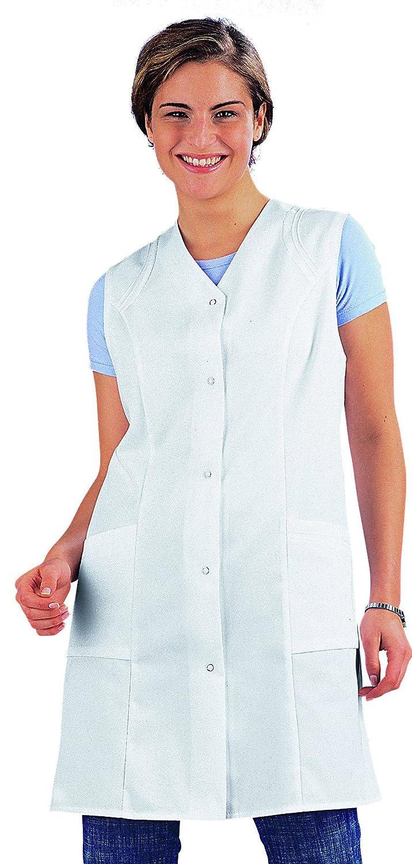 clinicfashion 10212028 Damen Langkasack ohne Arm Mischgewebe