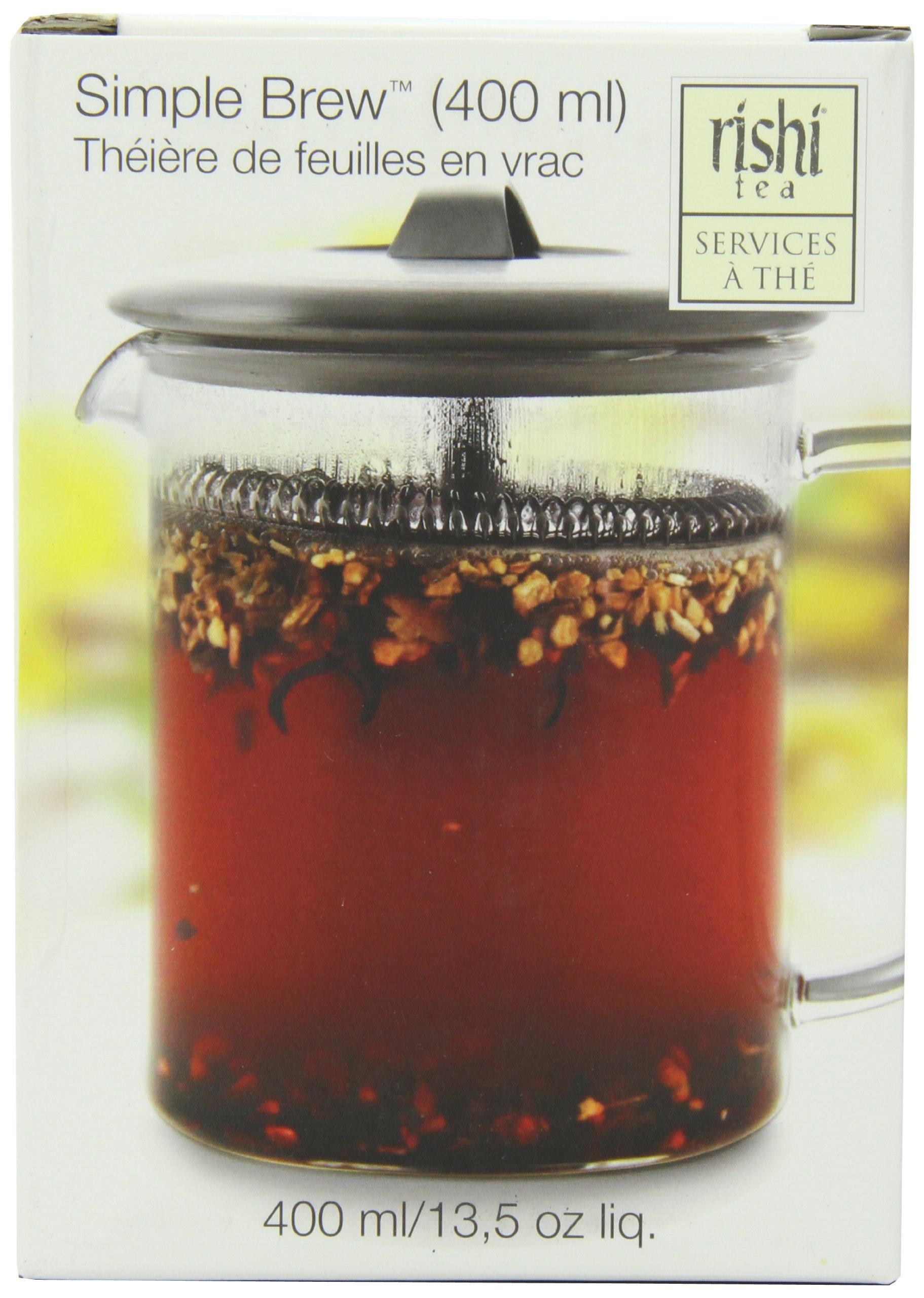 Rishi Tea Simple Brew Loose Leaf Teapot, 13.5 Ounces (400ml) by Rishi Tea