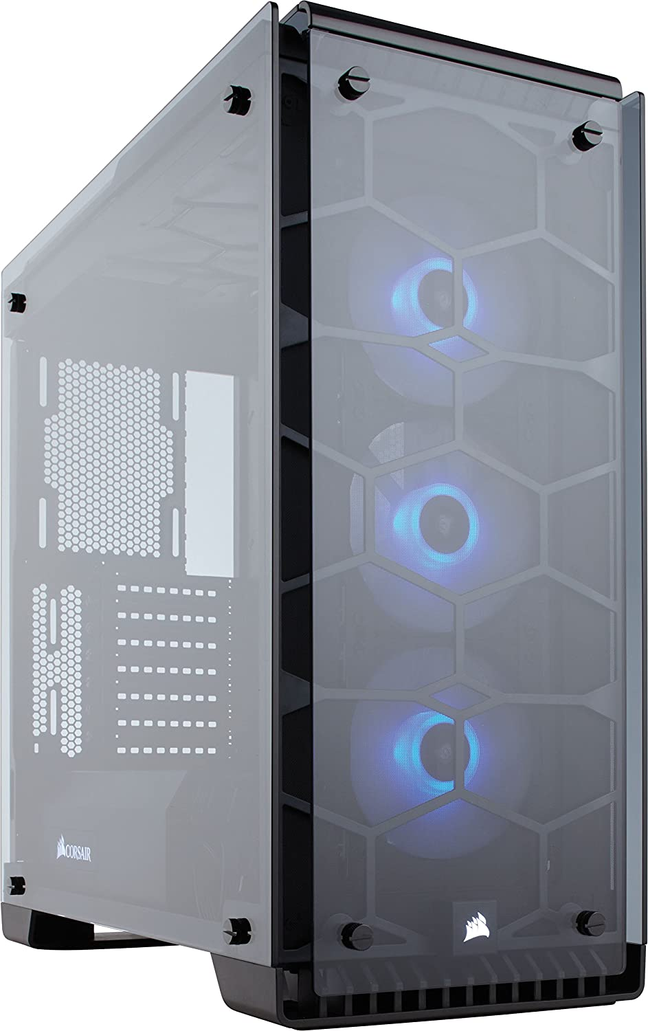 Corsair Crystal 570X Case da Gaming, Mid-Tower ATX, Finestra Laterale Vetro Temperato e Ventole, RGB LED