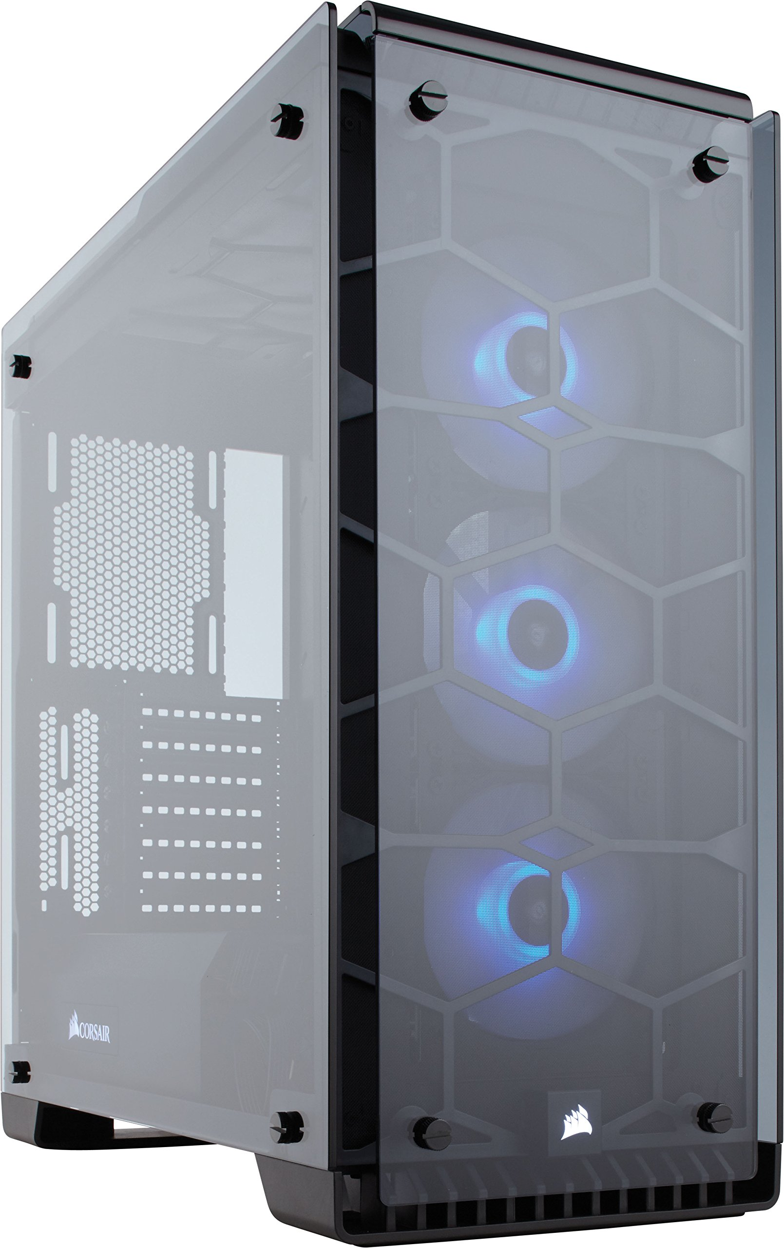 Corsair Crystal Series 570X RGB - Tempered Glass, Premium ATX Mid-Tower Case Cases CC-9011098-WW by Corsair