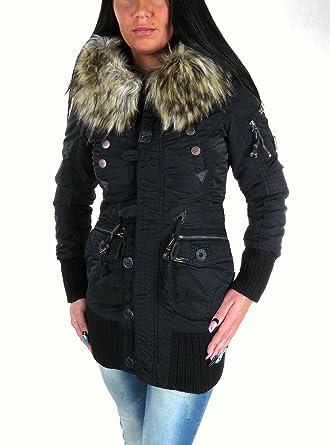 Khujo winterjacke cille schwarz