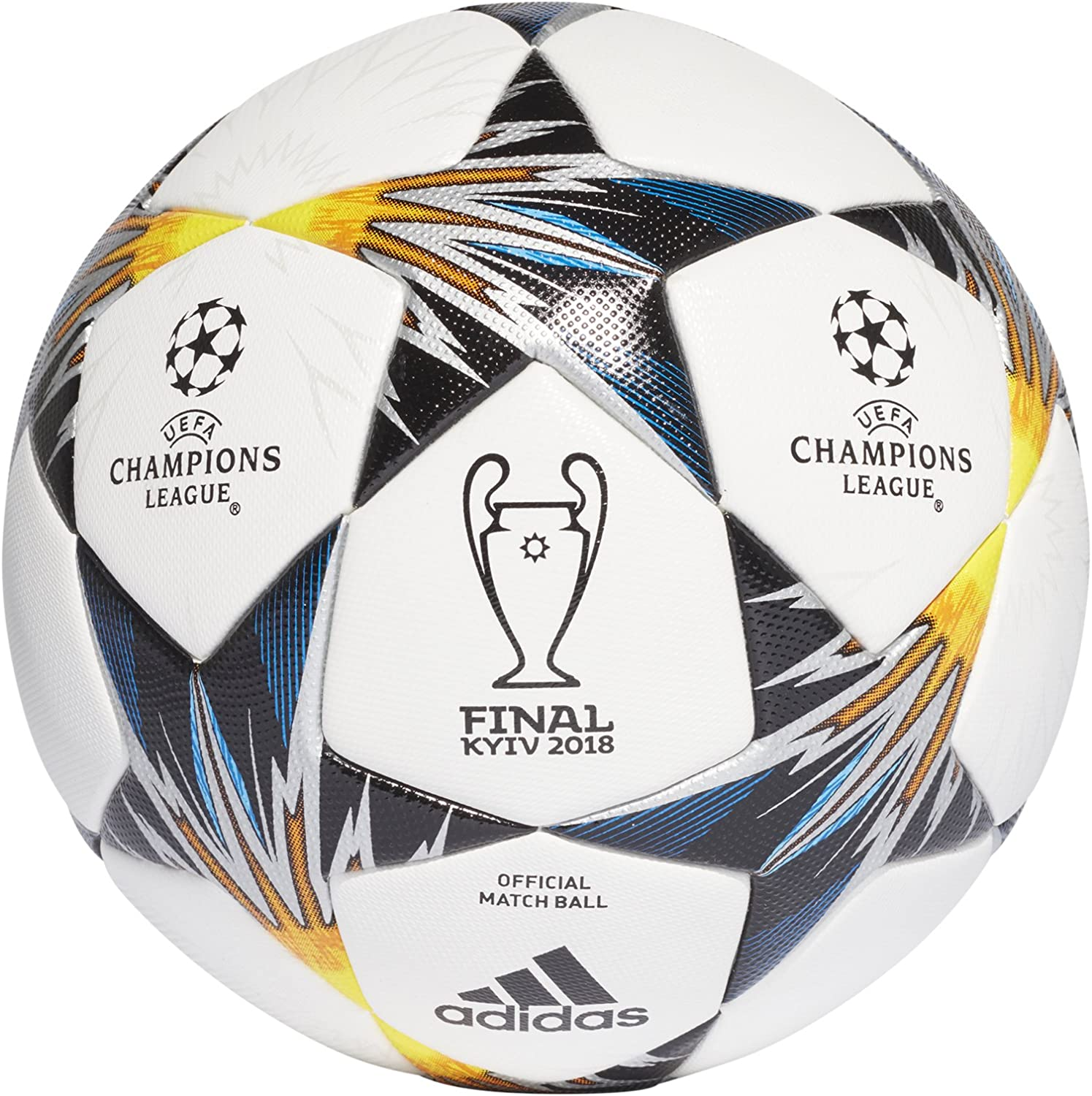 amazon com adidas kiev champions league finale game ball size 5 sports outdoors adidas ucl finale kiev official match soccer ball