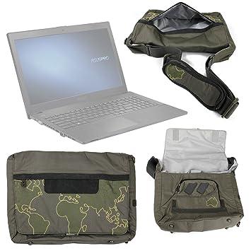 DURAGADGET Bolso con Bandolera Verde con Mapamundi para Ordenador portátil ASUS P2520SA | P2520LA | HP 255 G4: Amazon.es: Electrónica