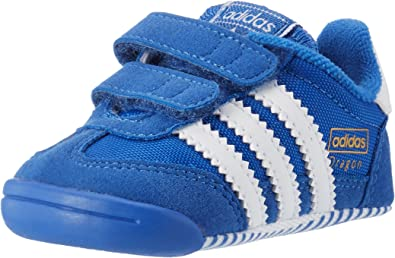 Interacción fingir Tigre  Amazon.com: adidas Originals Boy's Dragon Learn 2 Walk Crib Trainers 2.5  Infant Blue: adidas Originals: Shoes