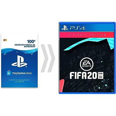 100€ PSN Card Crédito por FIFA20 - Ulitmate Edition [Código de descarga PSN - Cuenta española] - Ultimate Edition Edition | Código de descarga de PS4 - Cuenta del Reino Unido