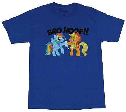 2c7b23da4e My Little Pony Friendship Is Magic Rainbow Dash and Applejack Bro Hoof  Adult Royal Blue T
