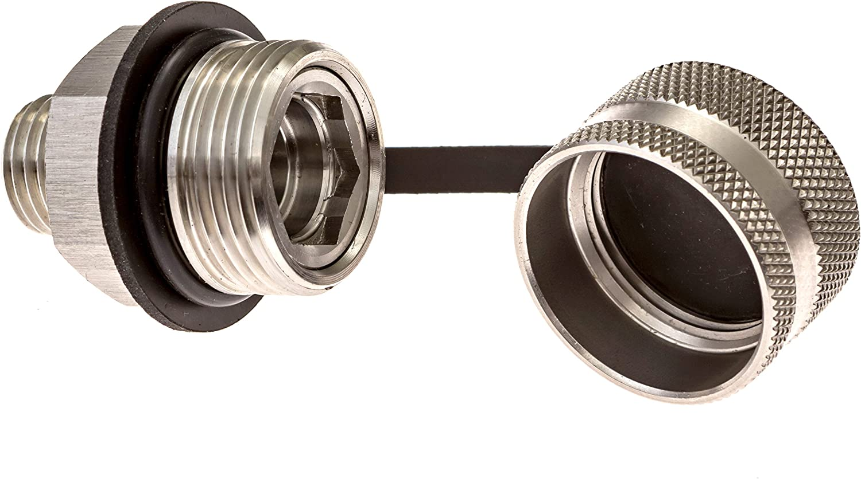 ValvoMax Stainless Oil Drain Valve No Mess for 1//2-20 Plastic Drain Hose Attachment No Tools Fast Drain