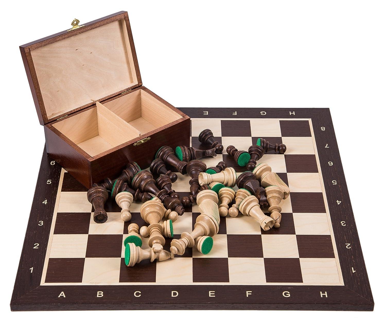 WENGE Pi/èces d/échecs /Échiquier Square Staunton 6 Pro Set de Jeu d/échecs no 6