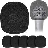 YOUSHARES Cubierta de Esponja para Micrófono Globular - Paquete de Seis Piezas Fundas de Esponja para Micrófono de Mano…