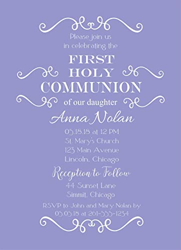 amazon com set of 25 girls purple baptism christening communion