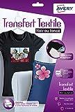 Avery 4  Papiers Transferts T shirt/Textile Noirs ou Foncés - A4 - Jet d'Encre (C9406)