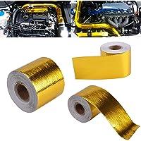 MASO gouden folie duct tape 9MX5CM hoge temperatuur warmte Shield tape kanaal beschermende banden voor auto olie pijp…