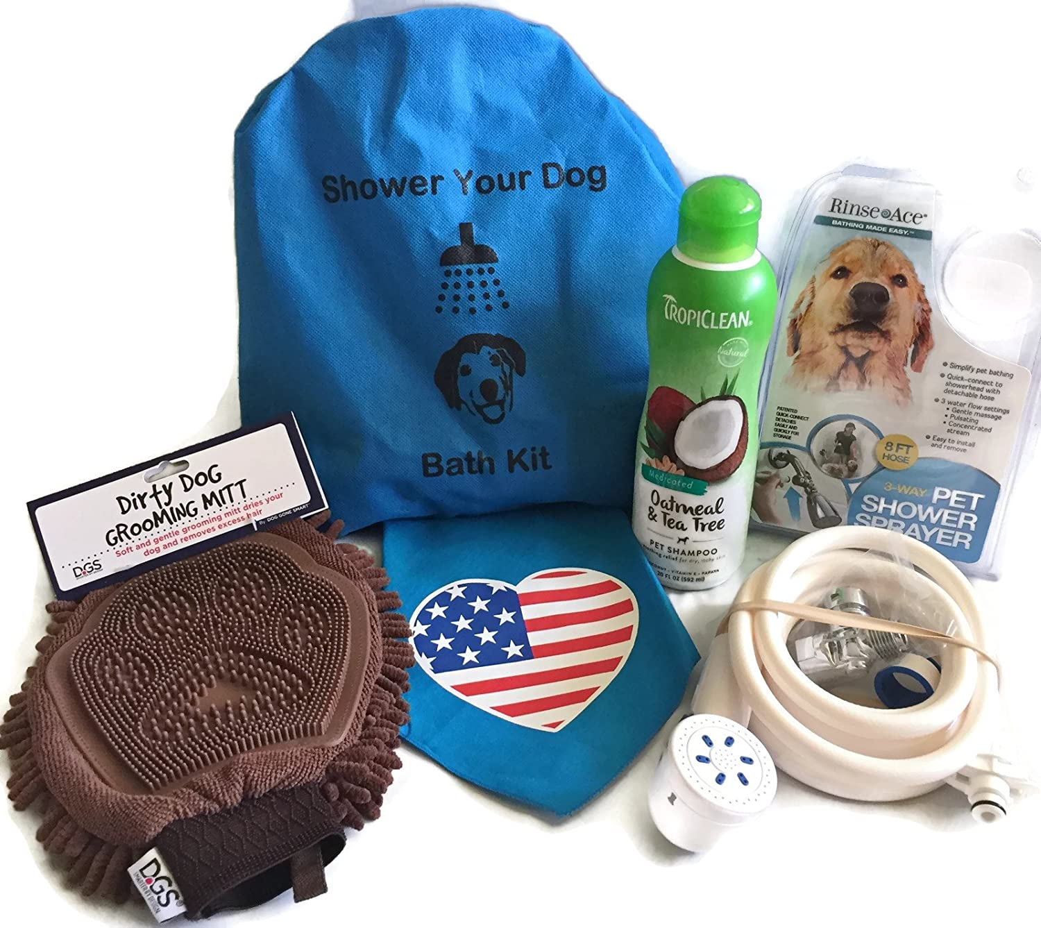 Amazon.com: DOG GROOMING SUPPLIES. This Bath Kit For Dogs Comes With ...