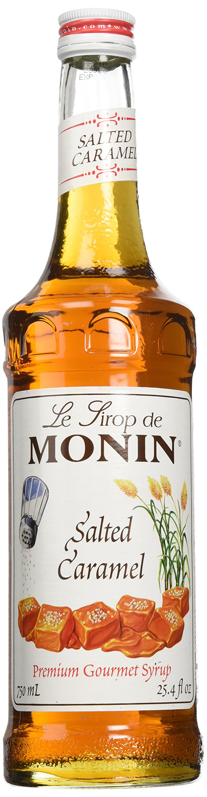 Monin Salted Caramel Syrup, 750 ml Glass Bottle