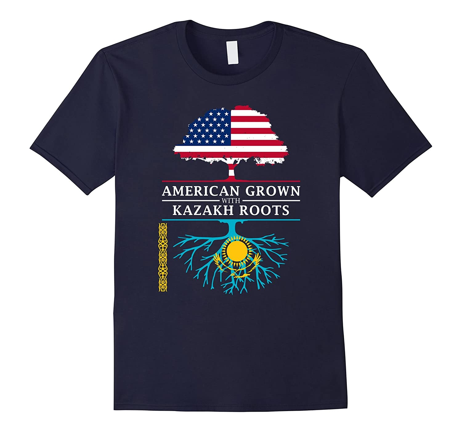 American Grown with Kazakh Roots T-Shirt - Kazakhstan Shirt-PL