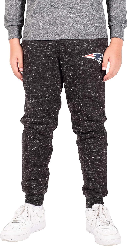 Ultra Game Boys' NFL Black Snow Fleece Jogger Sweatpants