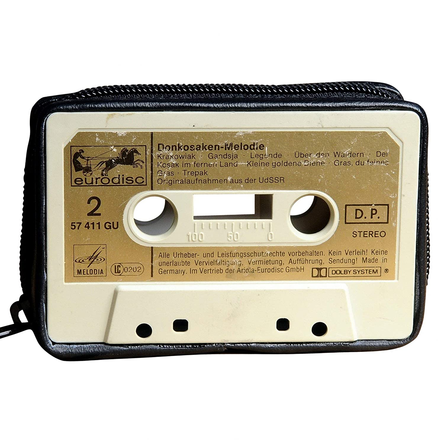 Amazon.com: Small Case Made of Real Music Cassette Tape ...