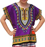 Amazon Price History for:RaanPahMuang Unisex Bright Africa Colour Children Dashiki Cotton Shirt