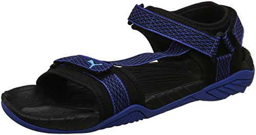 a521510f98a1 Puma Men s Black-Nrgy Turquoise-Lapis Blue Sandals-6 UK India (39 EU ...