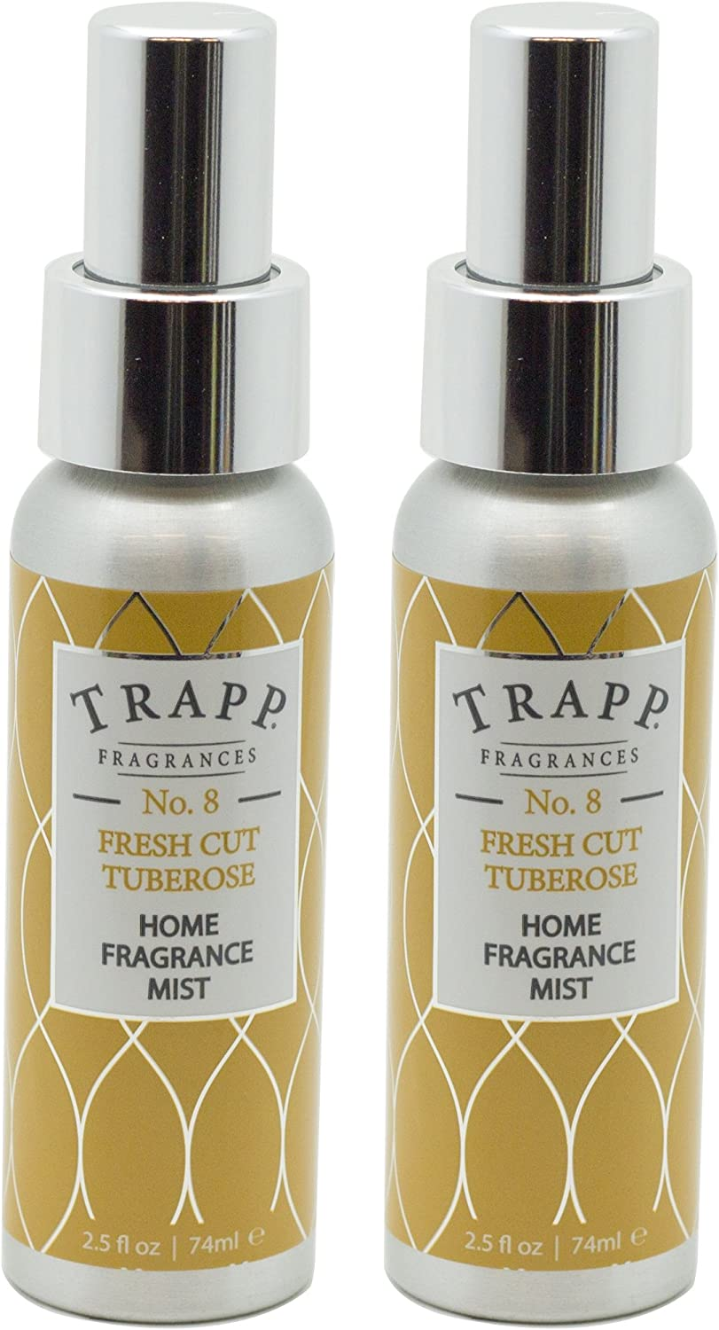 Trapp Home Fragrance Mist, No. 8 Fresh Cut Tuberose, 2.5-Ounce (2-Pack)