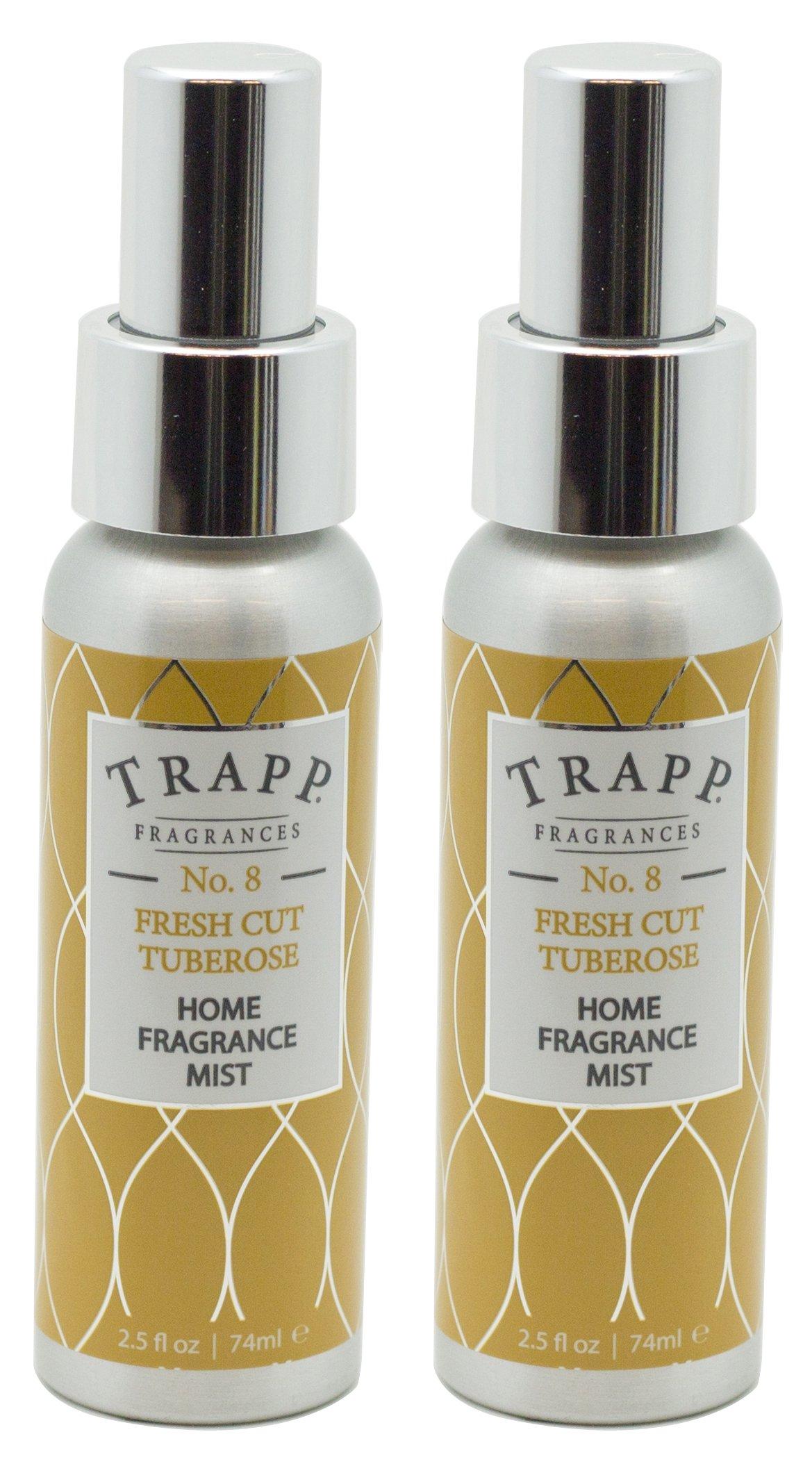 Trapp Home Fragrance Mist, No. 8 Fresh Cut Tuberose, 2.5-Ounce (2-Pack)