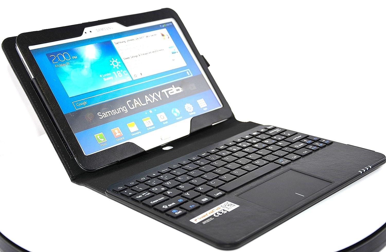 SonnyGoldTech - Funda con teclados y panel táctico para Samsung Galaxy Tab 4 10.1 WiFi SM-T533, SM-T530 | Carcasa con teclados bluetooth para Samsung Galaxy ...
