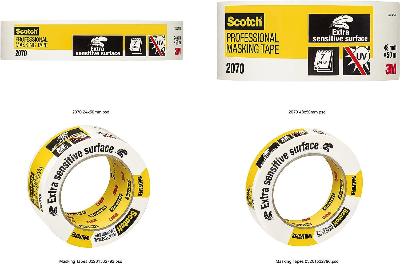 Scotch 2070 Ruban de masquage professionnel 1/rouleau de 24/mm x 50/m