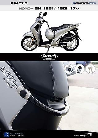 Artago 1667ART Anti-Theft Practic Art High Range Lock with Bracket for Honda Forza 125//300 2018
