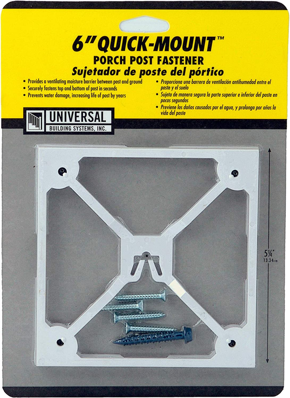 "6"" Quick-Mount Porch Post Fastener UBS"