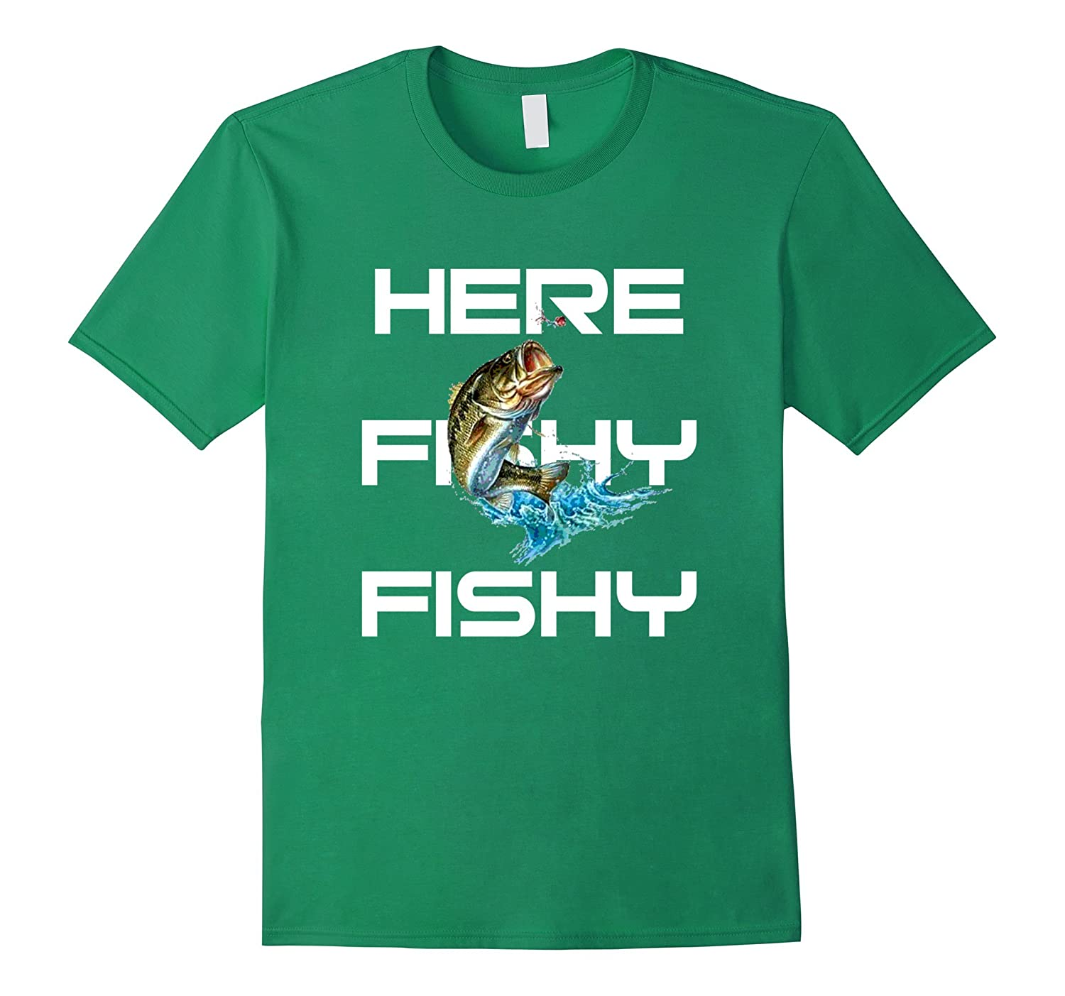 Cool here fishy fishy t shirt gift for fishing fisherman for Cool fishing gifts