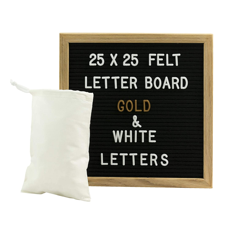 Amazon De Gadgy Letter Board Holz Und Filz 25x25 Cm Buchstaben