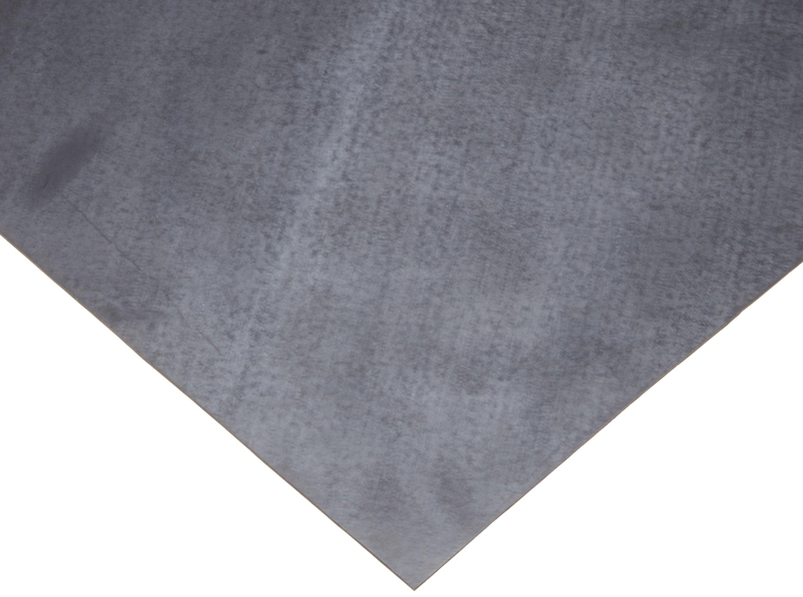 Viton Fluoroelastomer Sheet Gasket, Black, 1/8'' Thick, 12'' × 12'' (Pack of 1)