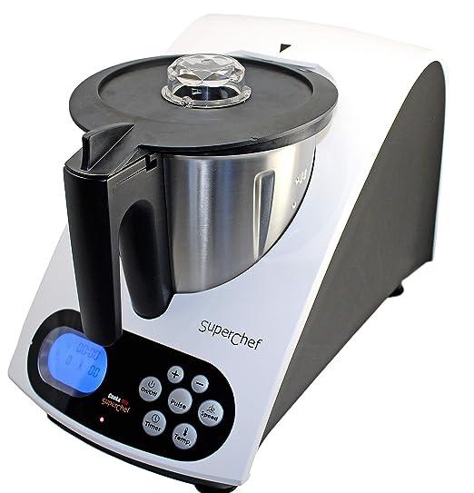 Superchef Robot de Cocina VA1500 Cook&MIx, 1100w+500w, jarra de 2 ...