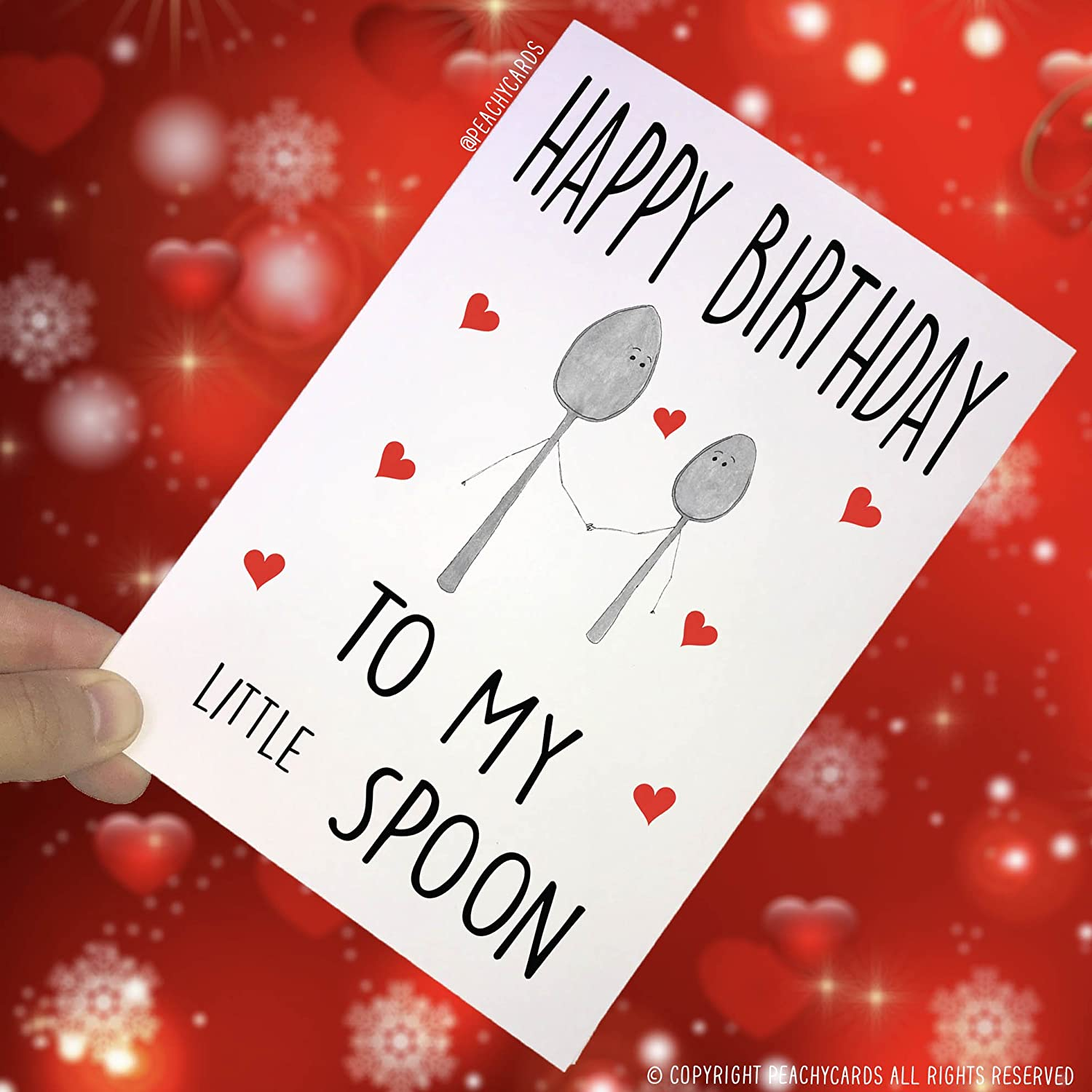 Amazing Peachy Antics Birthday Cards Little Spoon Wife Cards Funny Personalised Birthday Cards Paralily Jamesorg