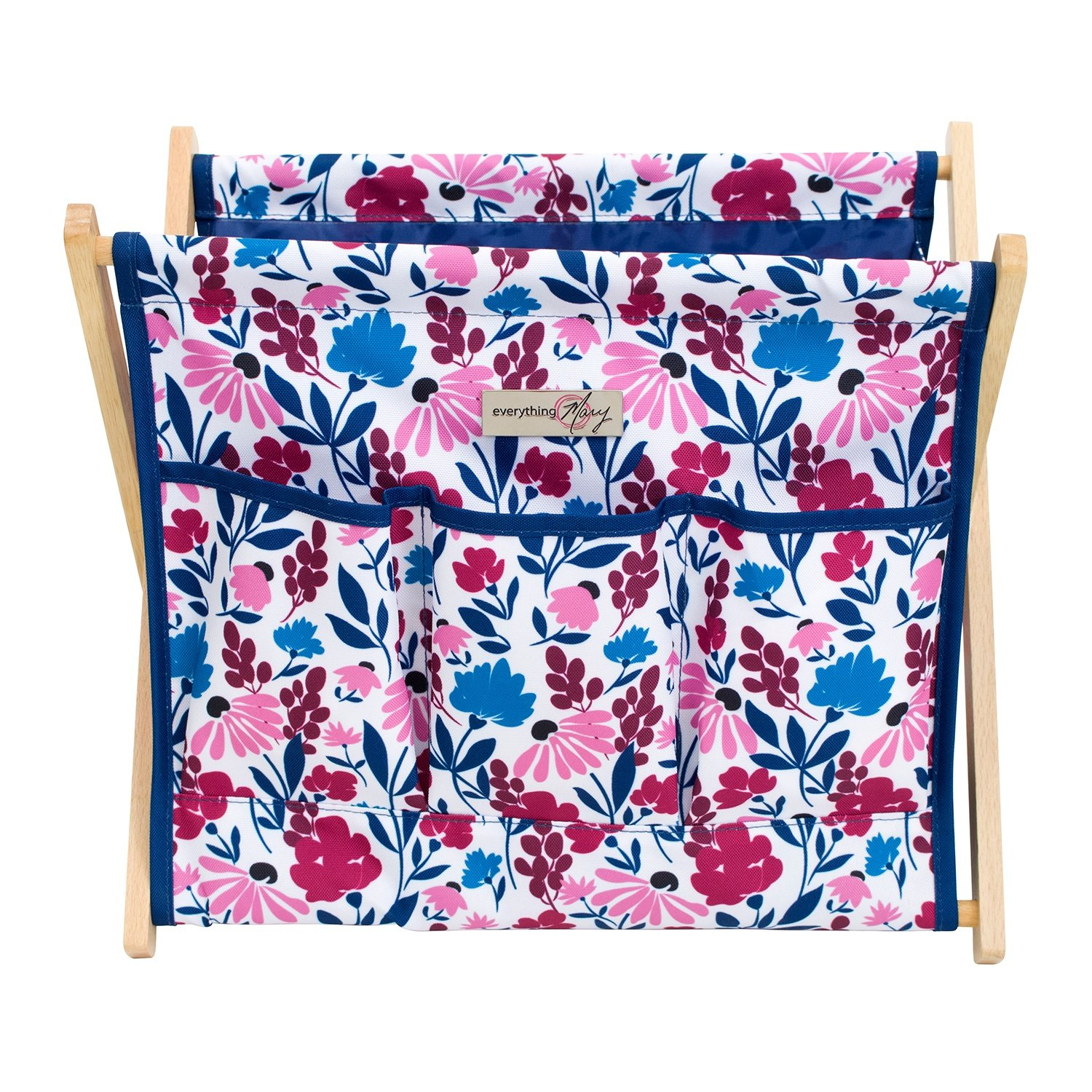 Everything Mary Deluxe Fold-Up Wooden Yarn Arts Caddy - Organization Storage for Knitting, Yarn, Crotchet - Yarn & Notions Organization - Tangle Free Yarn Caddy Bag Organizer for Tools & Travel by Everything Mary (Image #2)