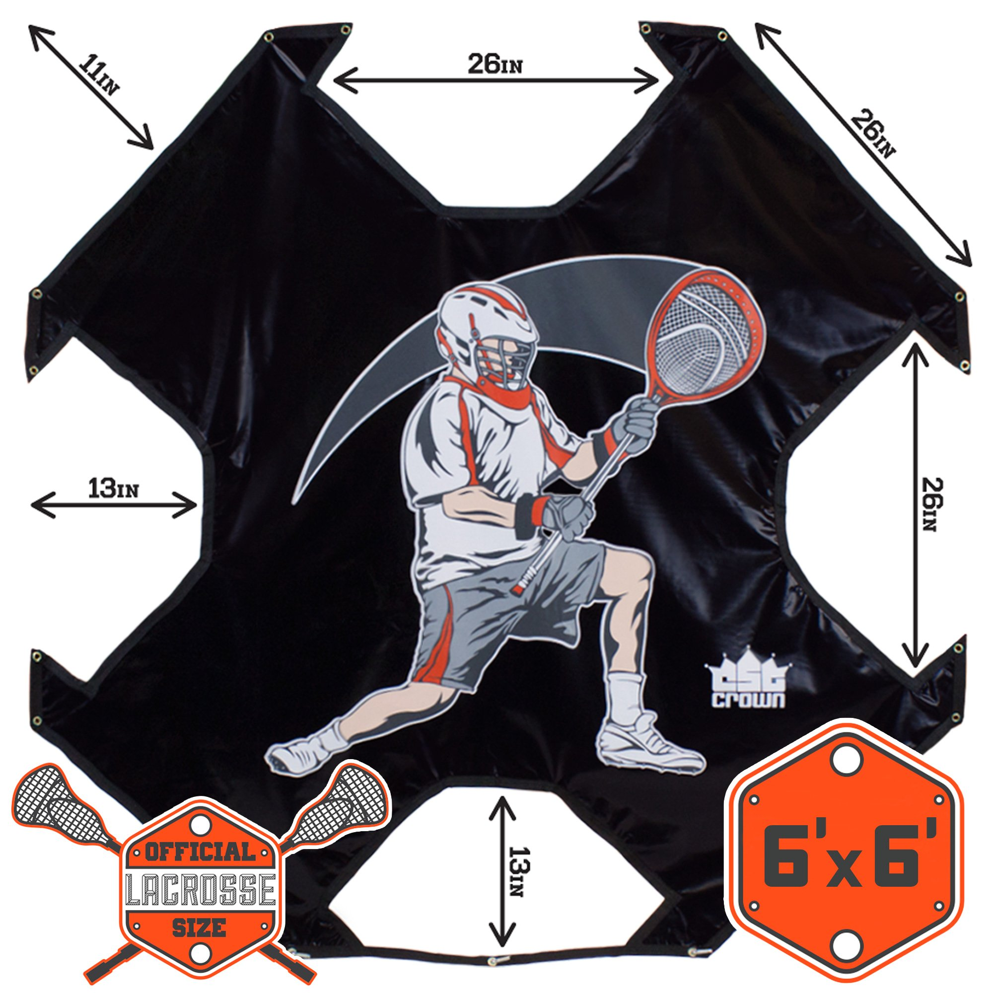 Lacrosse Goal Practice Target (Goal Not Included) - Fits Any Standard Size Lacrosee Goal! by Crown (Image #6)